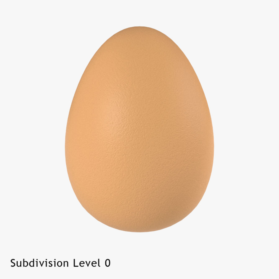 Brown Egg royalty-free 3d model - Preview no. 11