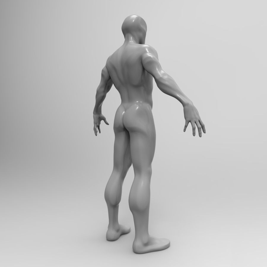 Basemesh simples royalty-free 3d model - Preview no. 4