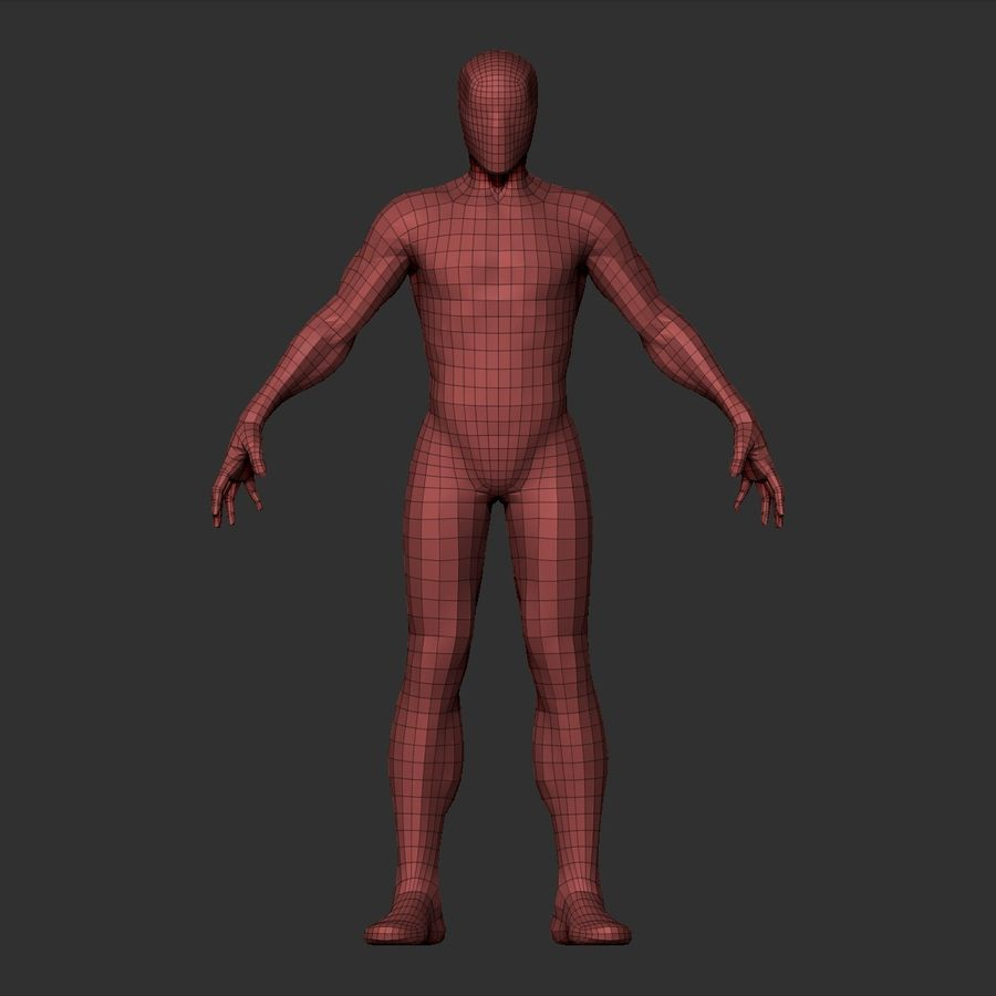 Simple Basemesh royalty-free 3d model - Preview no. 16