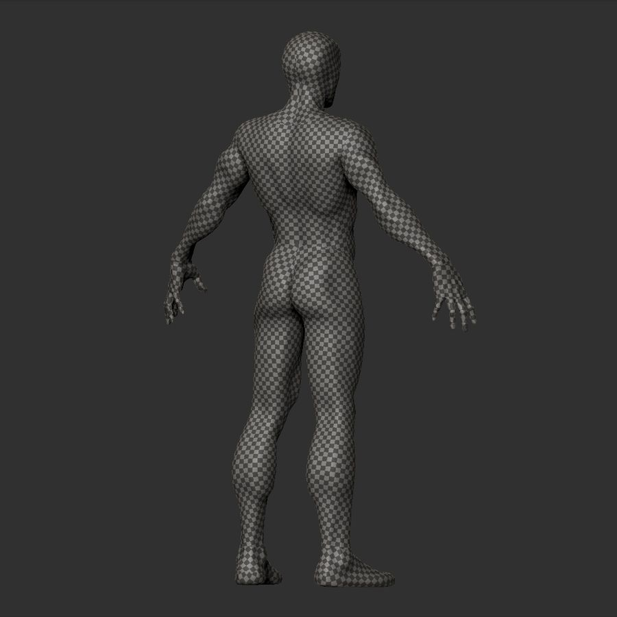 Basemesh simples royalty-free 3d model - Preview no. 14