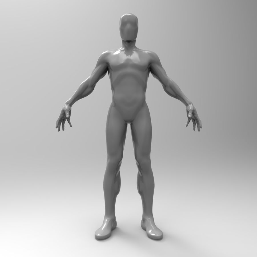 Basemesh simples royalty-free 3d model - Preview no. 1