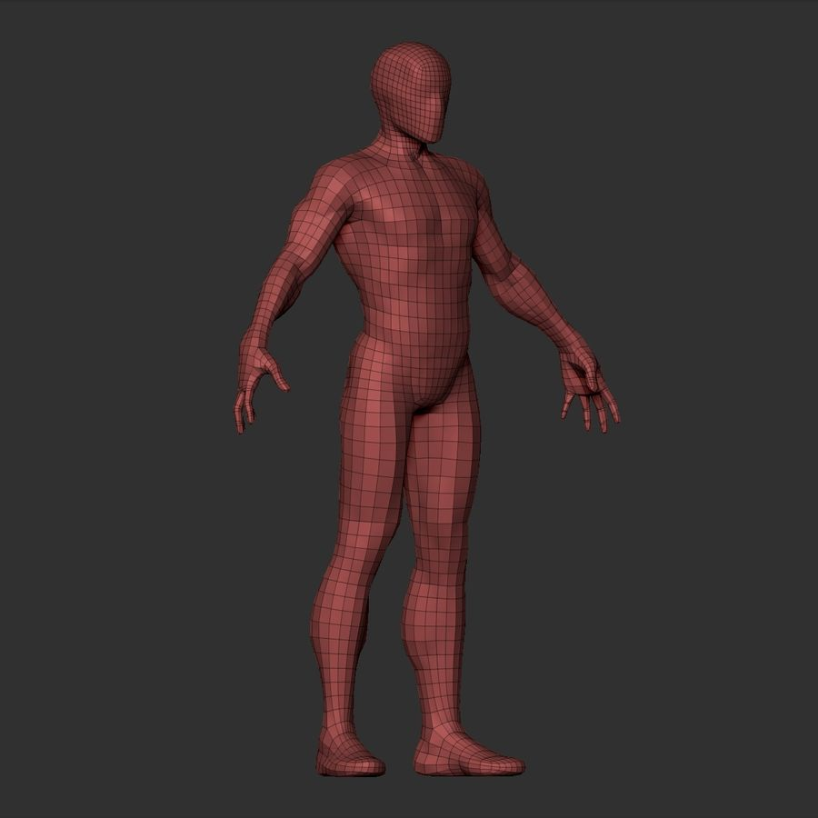 Basemesh simples royalty-free 3d model - Preview no. 18