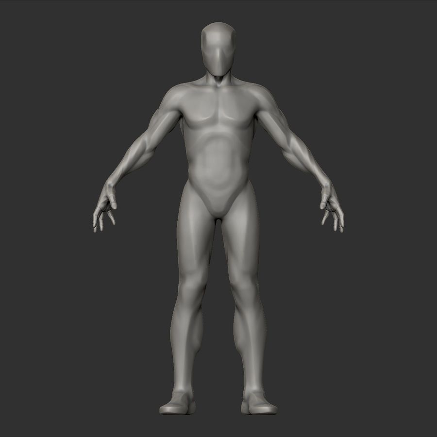 Basemesh simples royalty-free 3d model - Preview no. 6
