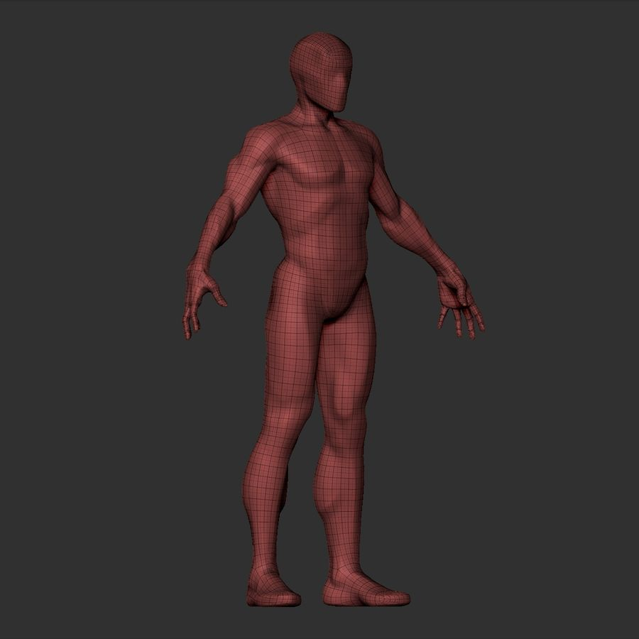 Basemesh simples royalty-free 3d model - Preview no. 19