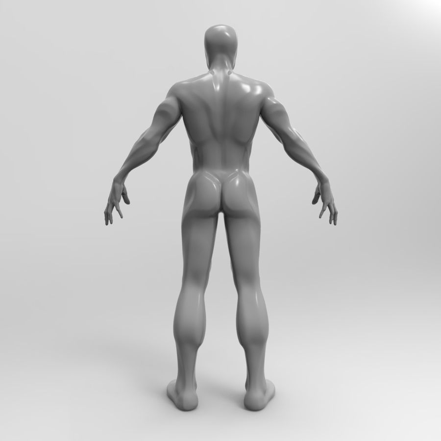 Basemesh simples royalty-free 3d model - Preview no. 5