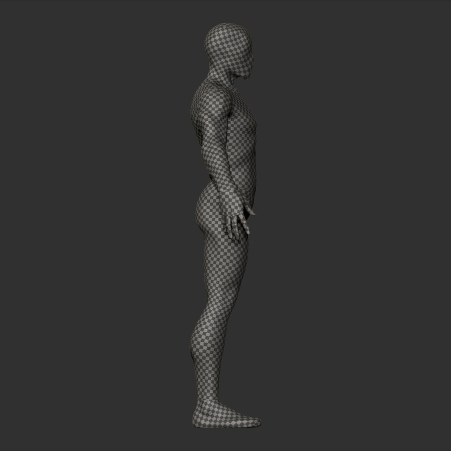 Basemesh simples royalty-free 3d model - Preview no. 13