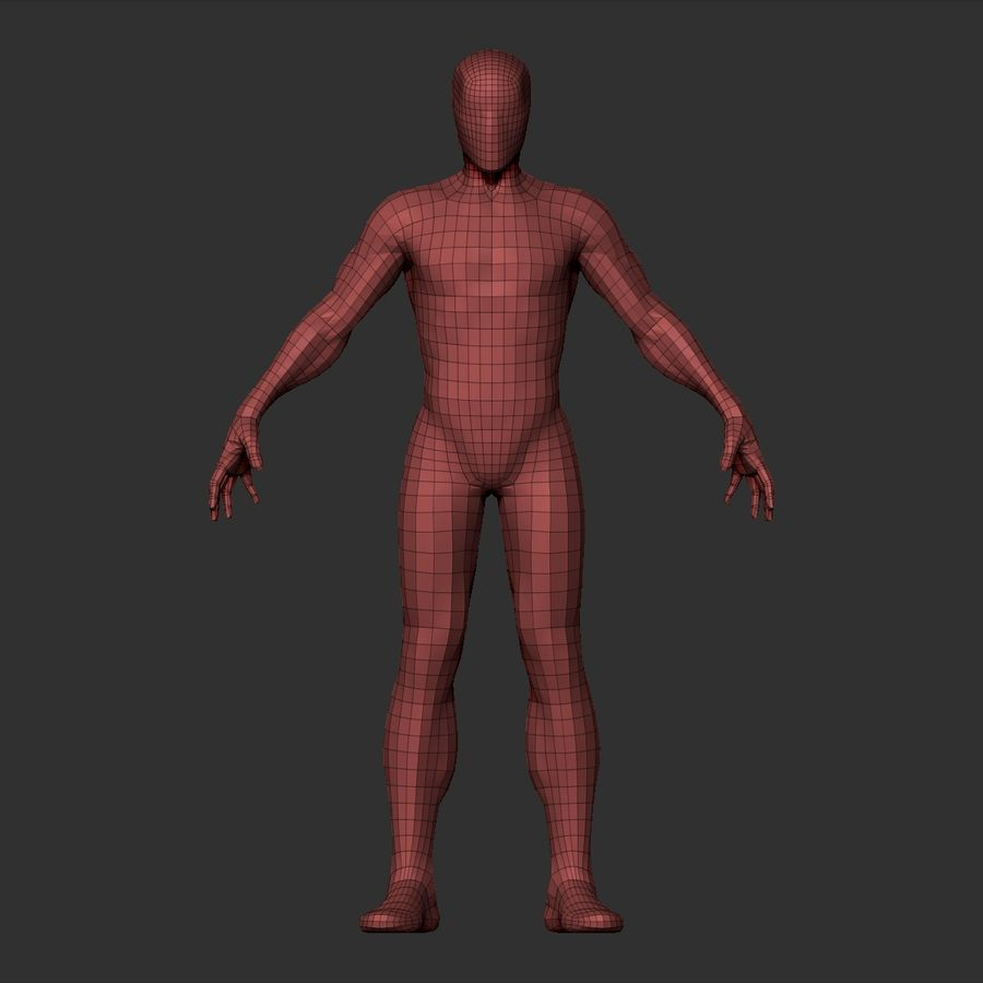 Basemesh simples royalty-free 3d model - Preview no. 16