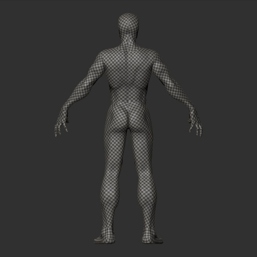 Basemesh simples royalty-free 3d model - Preview no. 15