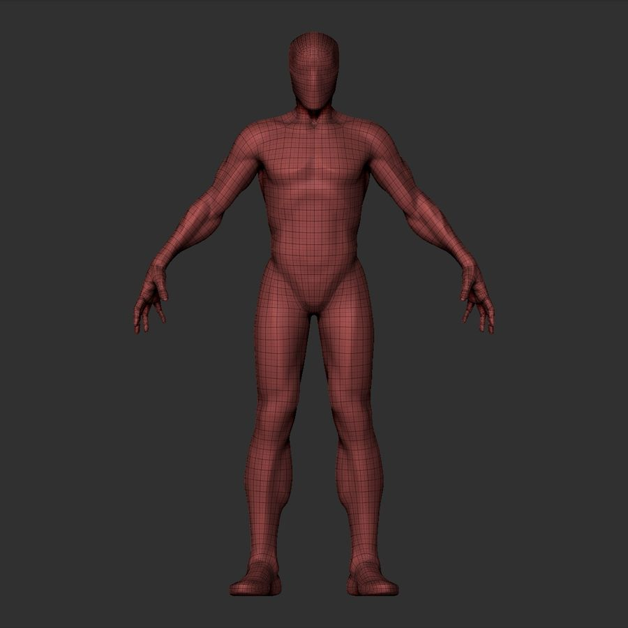 Basemesh simples royalty-free 3d model - Preview no. 17