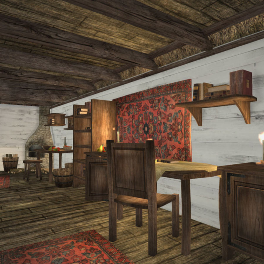 Medieval Furniture and Props royalty-free 3d model - Preview no. 9