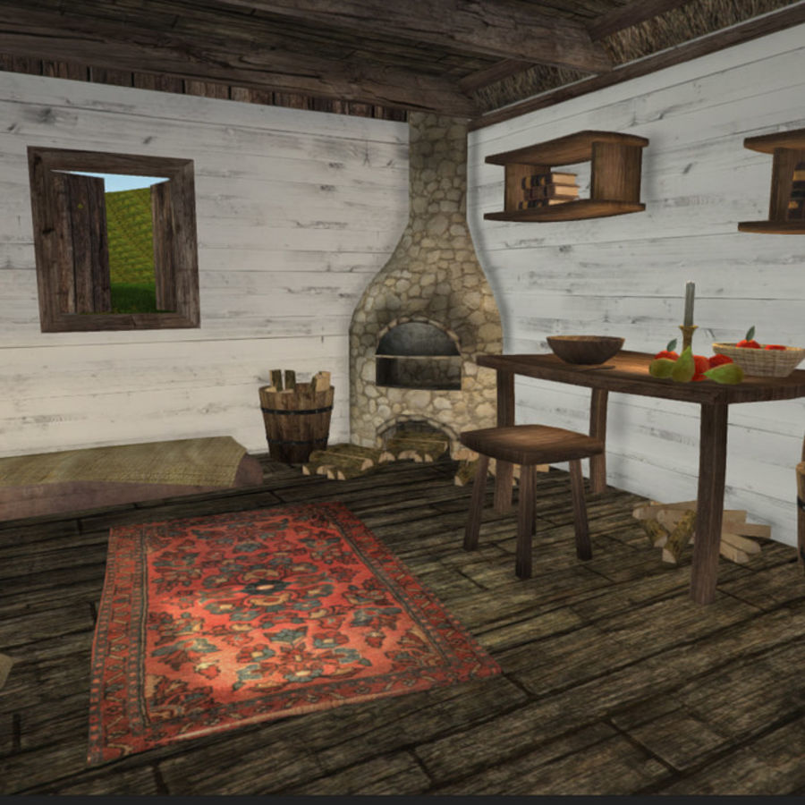 Medieval Furniture and Props royalty-free 3d model - Preview no. 8