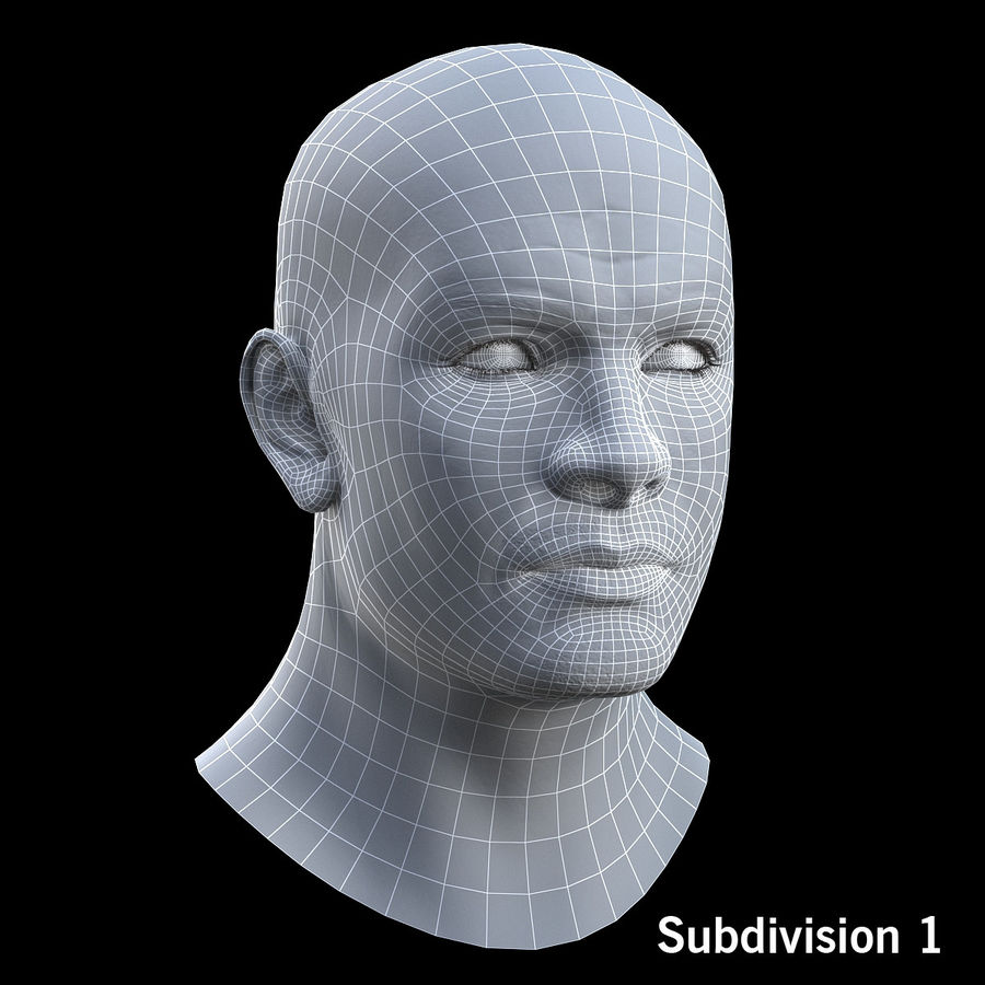 Head royalty-free 3d model - Preview no. 11