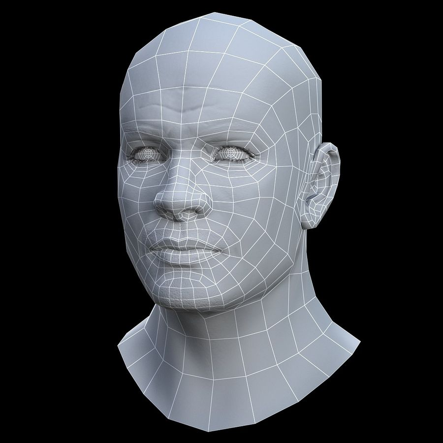 Head royalty-free 3d model - Preview no. 12