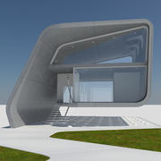 Futuristic Modern City Building House 1 3d model