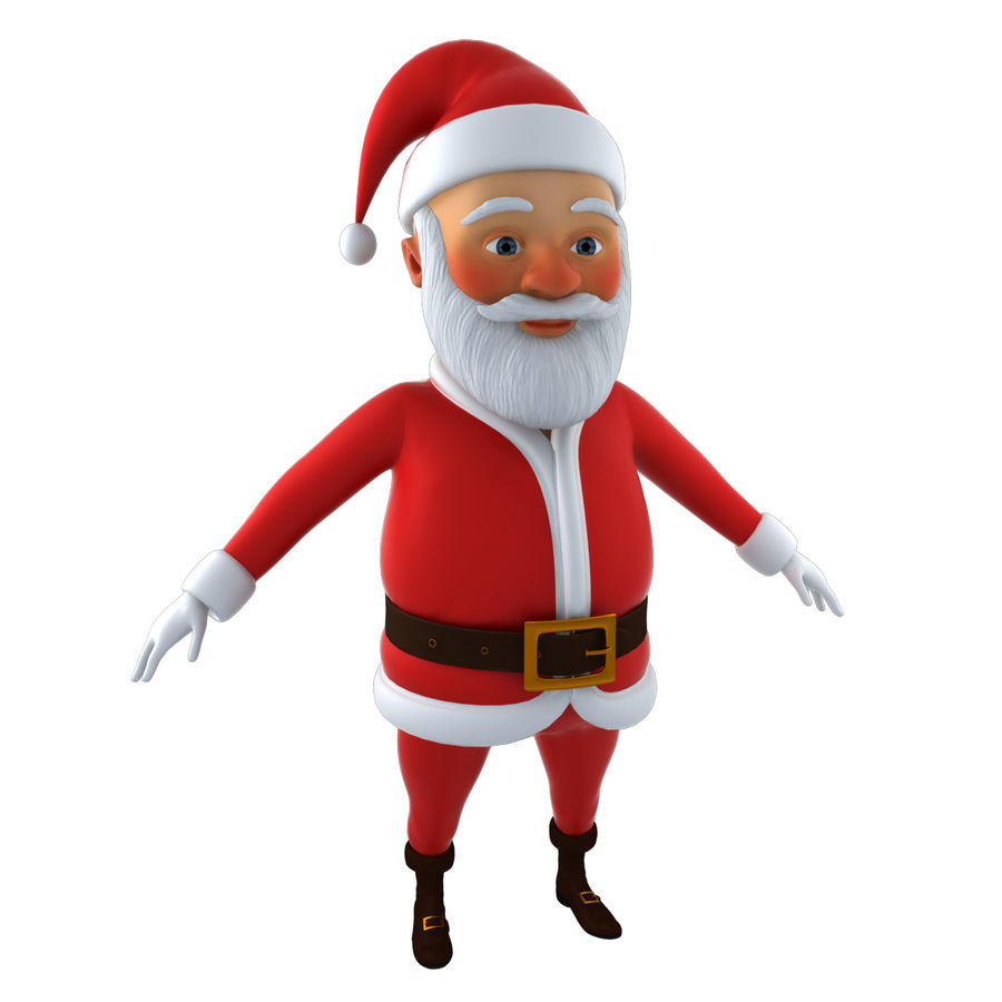 Papai Noel royalty-free 3d model - Preview no. 8