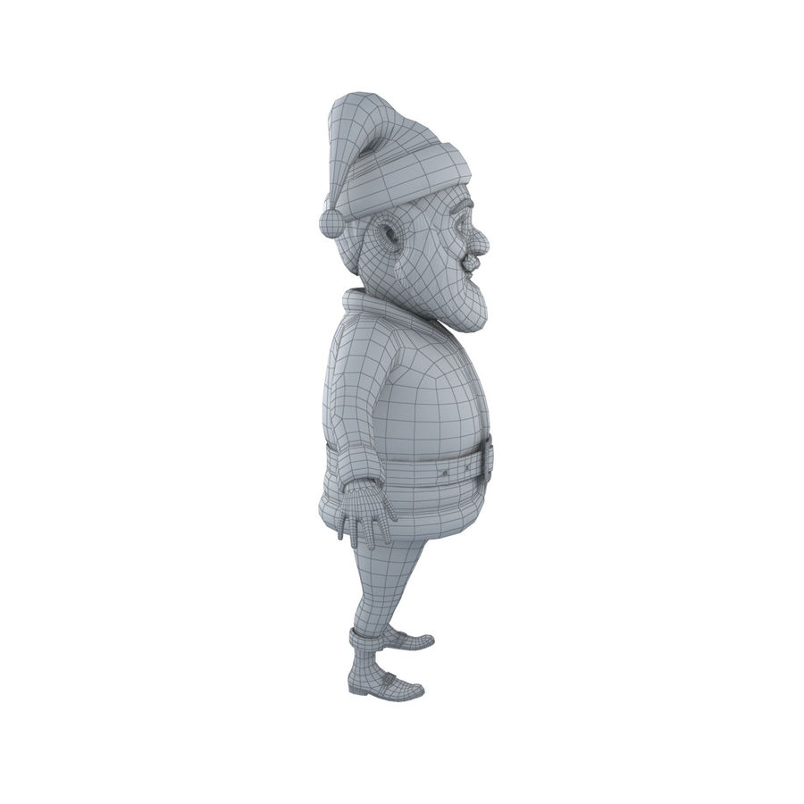 Papai Noel royalty-free 3d model - Preview no. 11