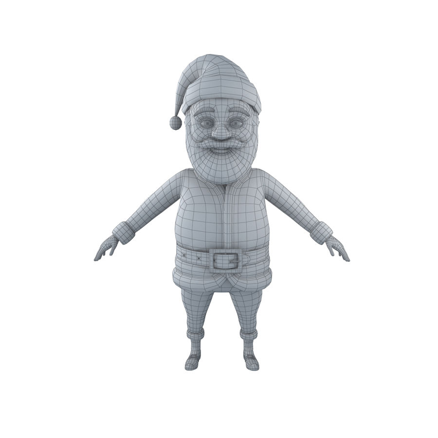 Papai Noel royalty-free 3d model - Preview no. 5