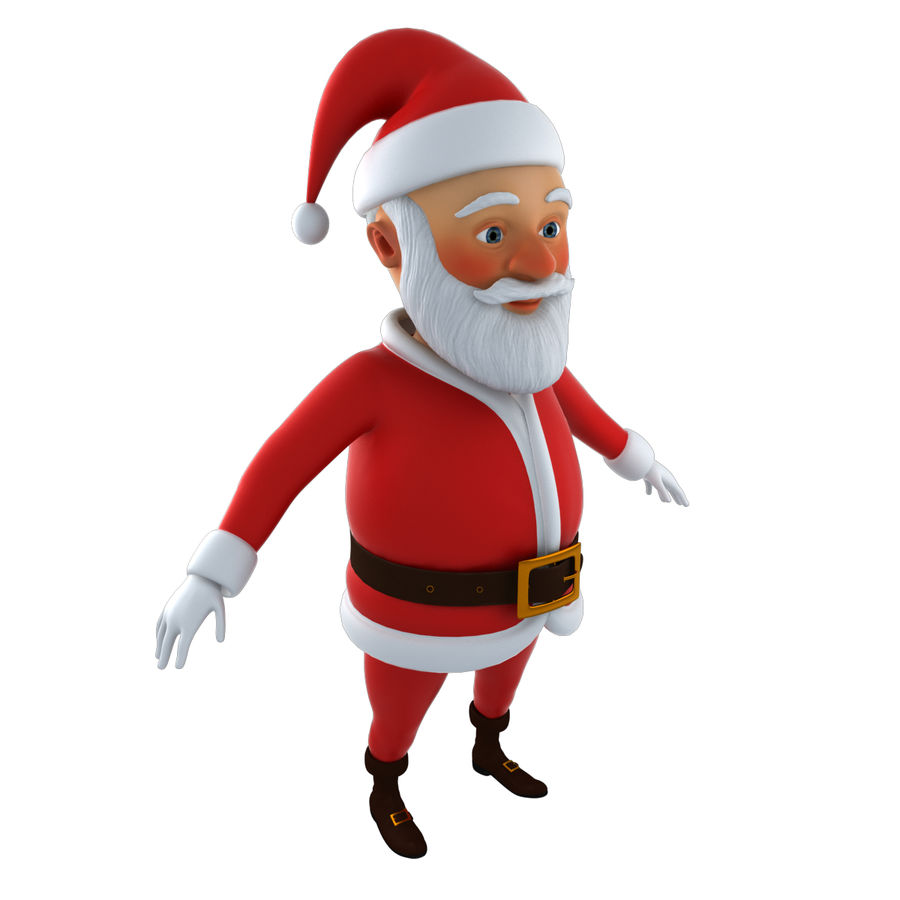 Papai Noel royalty-free 3d model - Preview no. 6