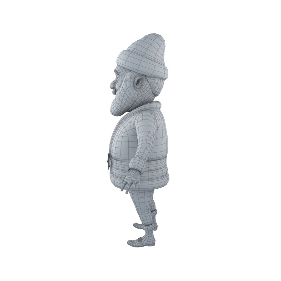 Papai Noel royalty-free 3d model - Preview no. 7