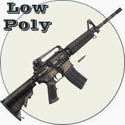 M4A1 Low Poly 3d model