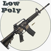 M4A1 저 폴리 3d model