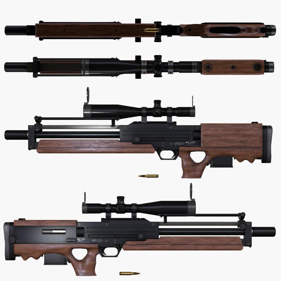 Walther WA2000 Low Poly 3D Model $19 - .ma .max .obj - Free3D