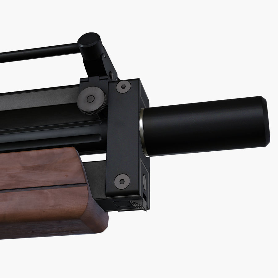 Walther WA2000 Low Poly royalty-free 3d model - Preview no. 11
