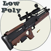 Walther WA2000 Low Poly 3d model