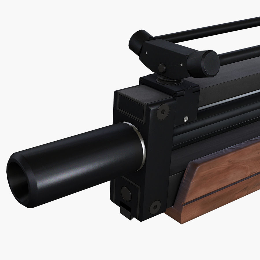 Walther WA2000 Low Poly royalty-free 3d model - Preview no. 12