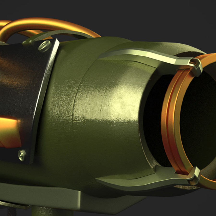 Sci-Fi Rocket launcher royalty-free 3d model - Preview no. 5