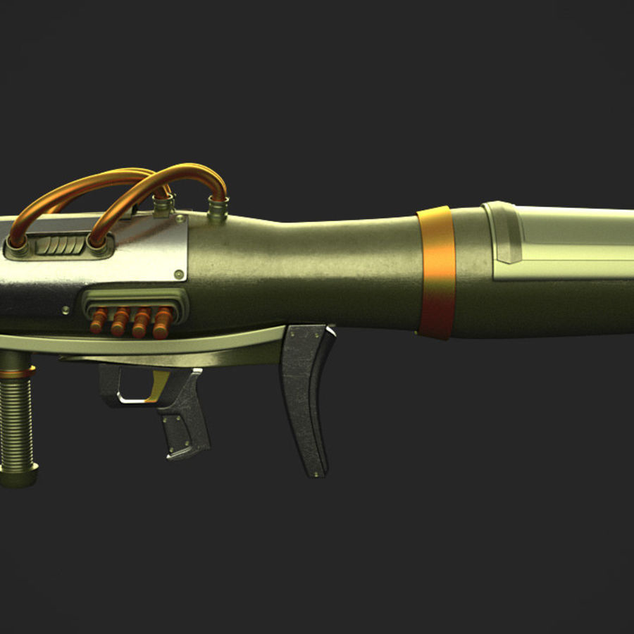 Sci-Fi Rocket launcher royalty-free 3d model - Preview no. 1