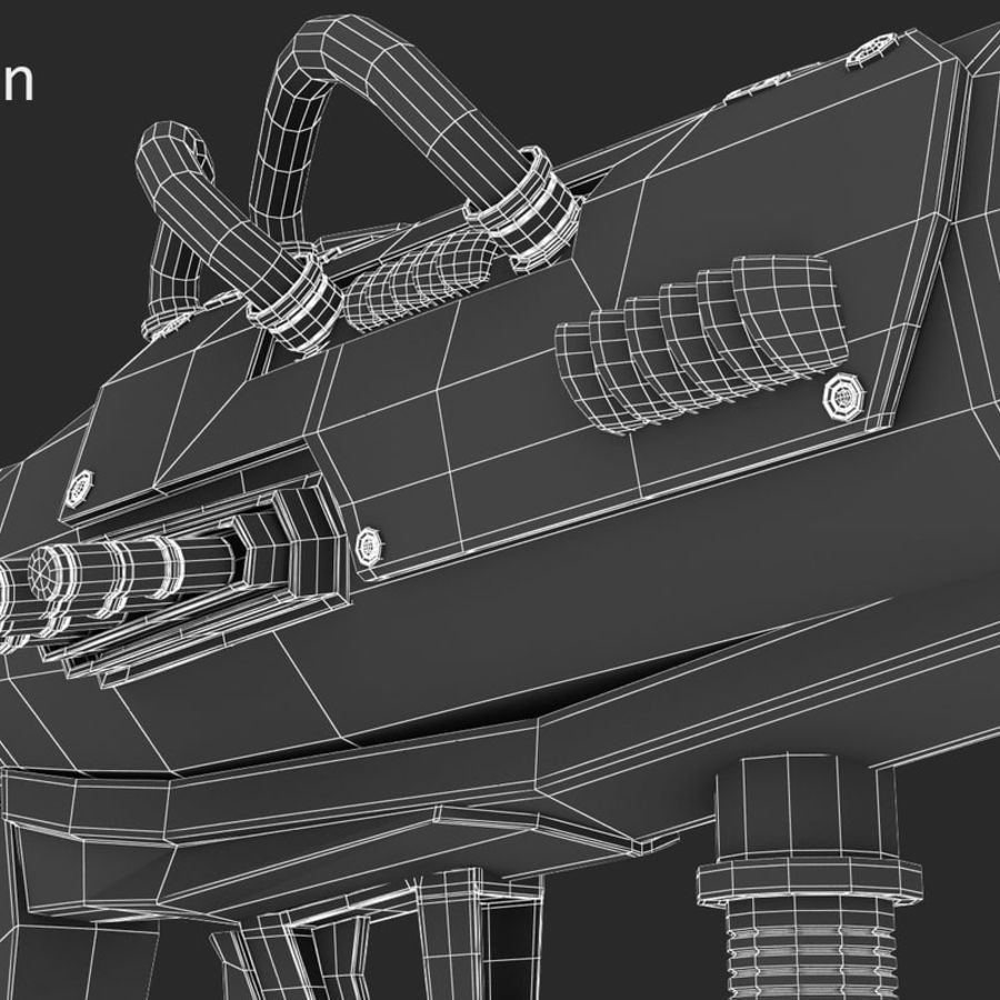 Sci-Fi Rocket launcher royalty-free 3d model - Preview no. 8