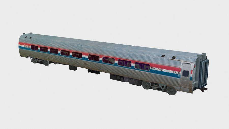 Amtrak Amfleet I&II royalty-free 3d model - Preview no. 10
