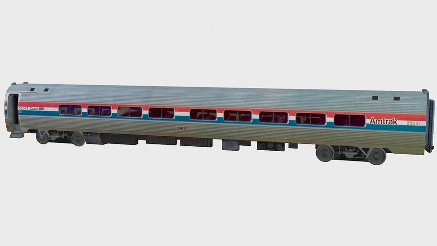 Amtrak Amfleet I & II royalty-free 3d model - Preview no. 12