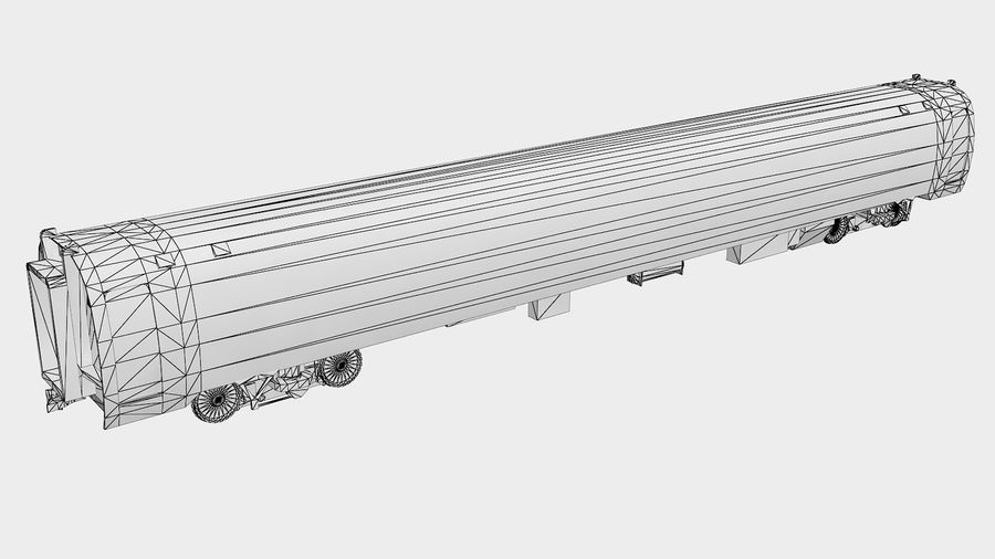 Amtrak Amfleet I & II royalty-free 3d model - Preview no. 7