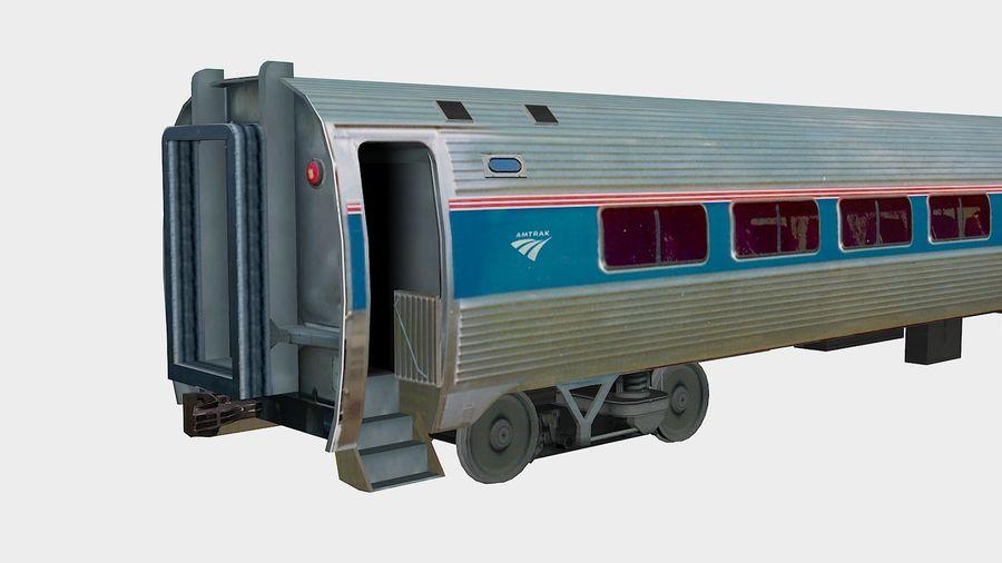 Amtrak Amfleet I & II royalty-free 3d model - Preview no. 6