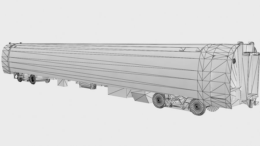 Amtrak Amfleet I&II royalty-free 3d model - Preview no. 16
