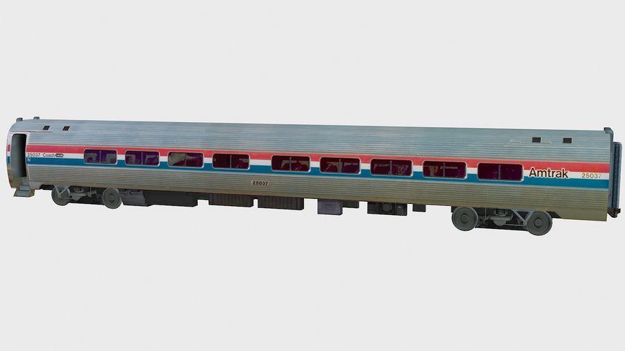 Amtrak Amfleet I&II royalty-free 3d model - Preview no. 12