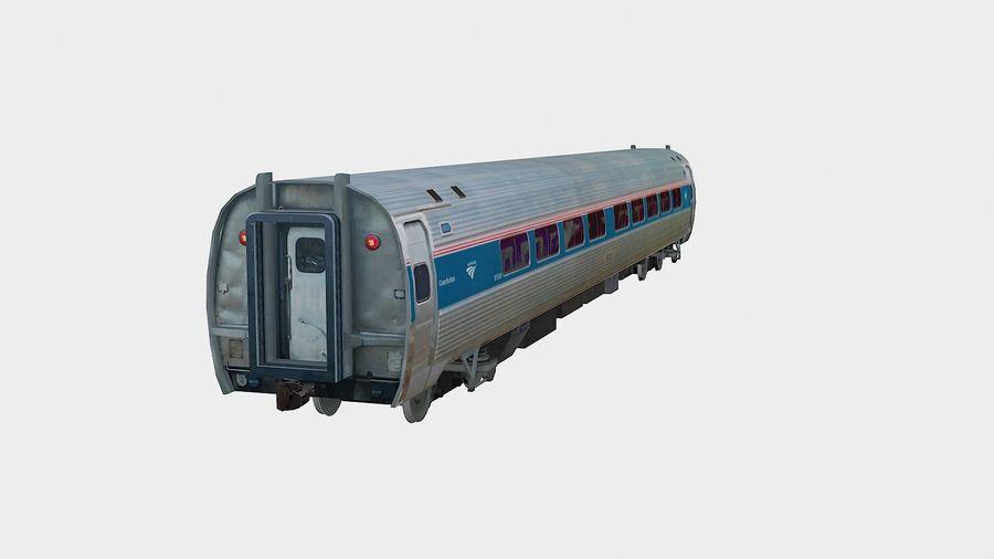 Amtrak Amfleet I & II royalty-free 3d model - Preview no. 3