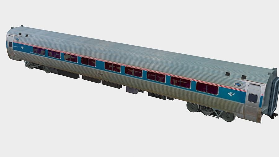 Amtrak Amfleet I&II royalty-free 3d model - Preview no. 4