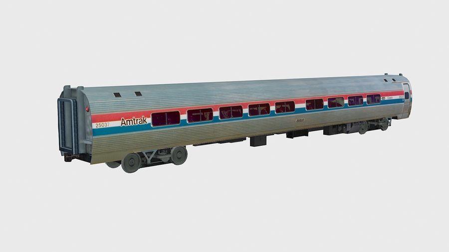 Amtrak Amfleet I & II royalty-free 3d model - Preview no. 11