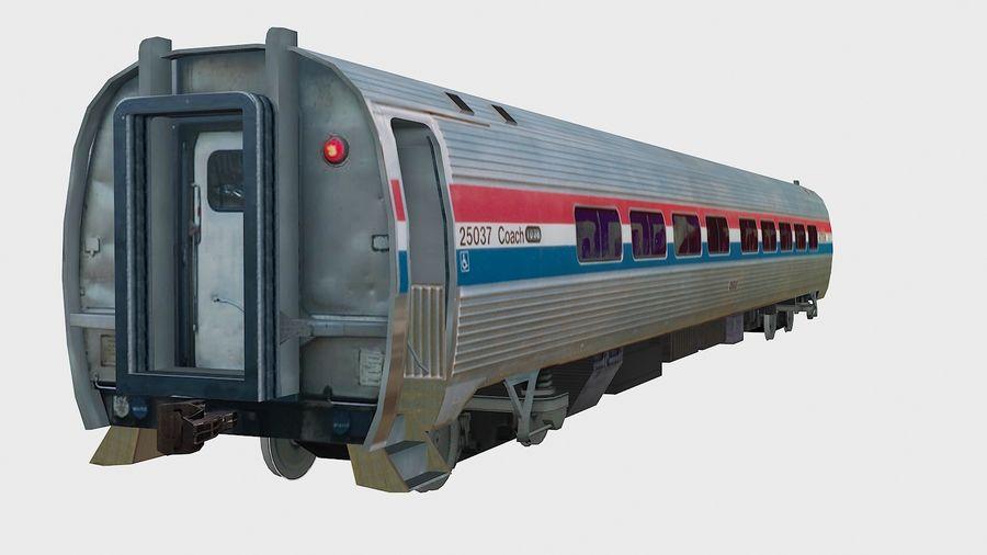 Amtrak Amfleet I&II royalty-free 3d model - Preview no. 13