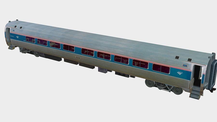 Amtrak Amfleet I & II royalty-free 3d model - Preview no. 5