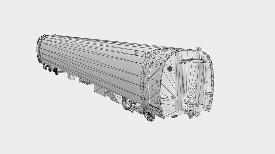 Amtrak Amfleet I & II royalty-free 3d model - Preview no. 9