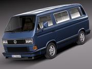 Volkswagen T3 Limited, laatste editie 2002 3d model