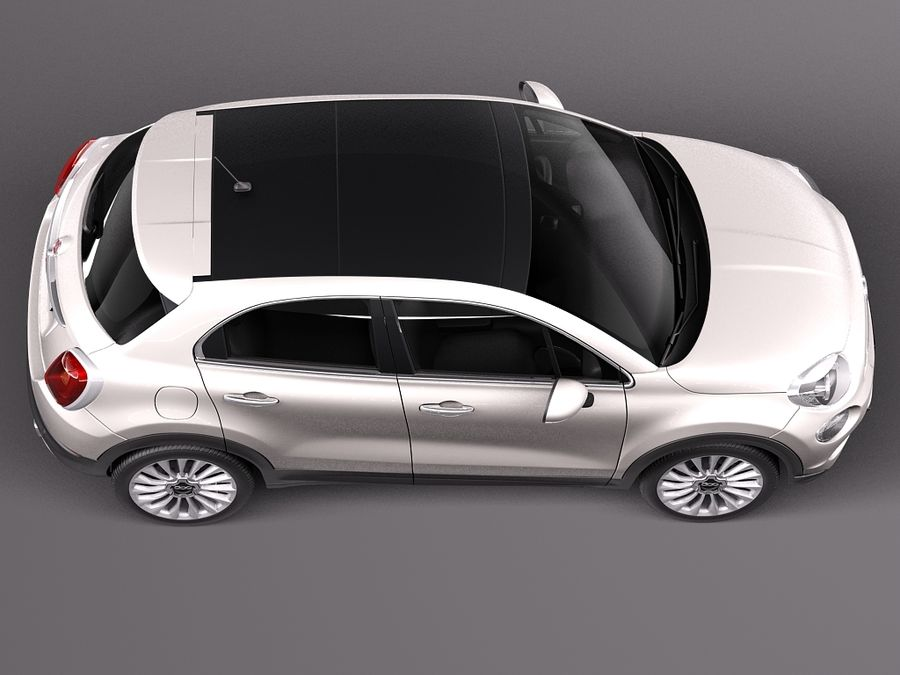 Fiat 500X 2015 royalty-free 3d model - Preview no. 8