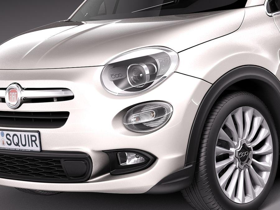 Fiat 500X 2015 royalty-free 3d model - Preview no. 3