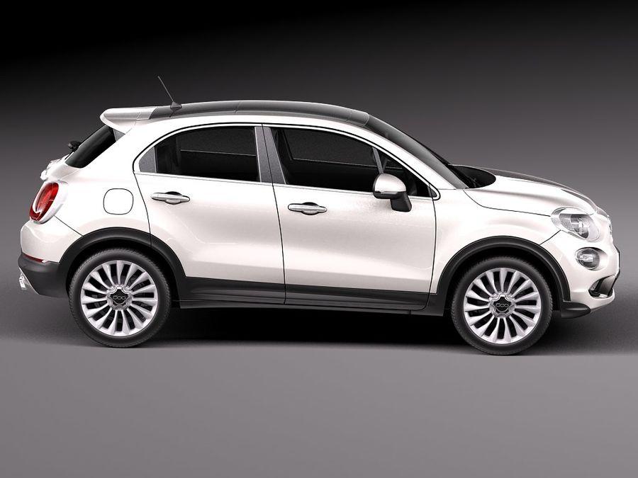 Fiat 500X 2015 royalty-free 3d model - Preview no. 7