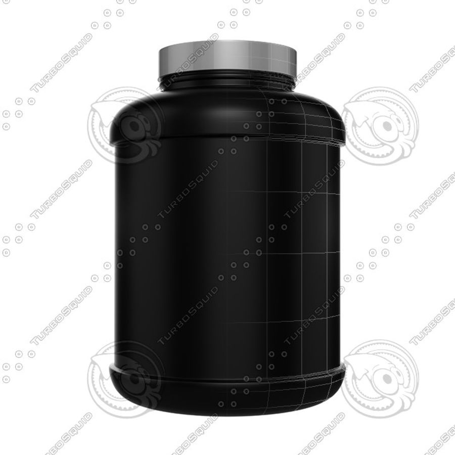 Protein Jar royalty-free 3d model - Preview no. 1