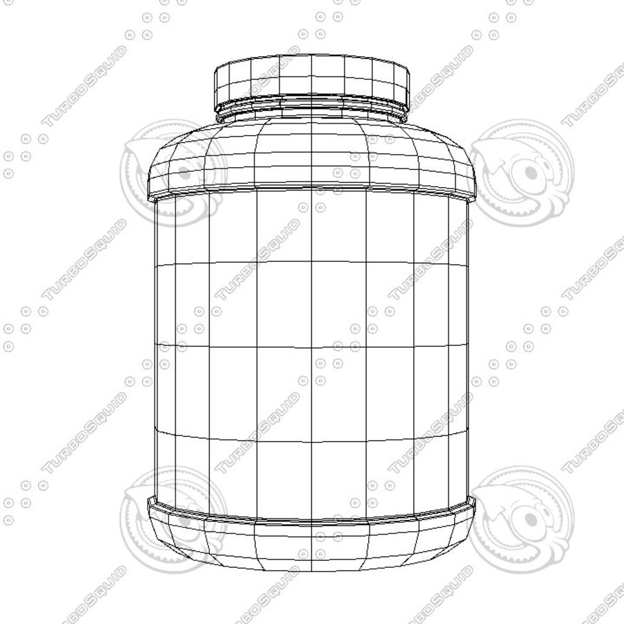 Protein Jar royalty-free 3d model - Preview no. 2